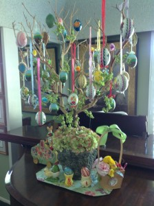 Easter Egg Tree on the Piano