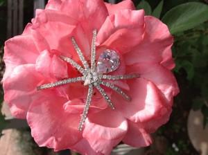 Ivana Trump Rhinestone Spider