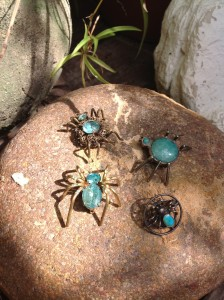 Mexican silver spiders with two Czech spiders. Very International.